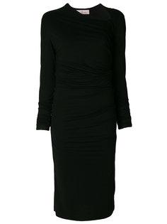присборенное платье с асимметричной горловиной A.F.Vandevorst