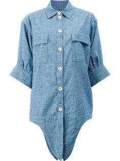 джинсовая рубашка с завязками спереди Chloé