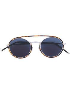 солнцезащитные очки в круглой оправе с эффектом черепашьего панциря Dior Eyewear