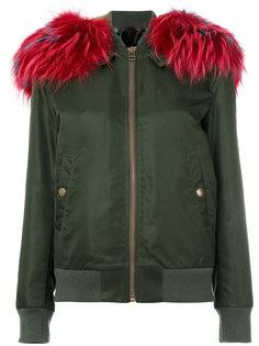 куртка-бомбер с меховой подкладкой  Mr & Mrs Italy