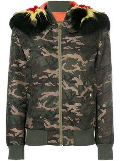 куртка-бомбер с камуфляжным принтом  Mr & Mrs Italy