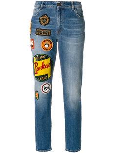 прямые джинсы с нашивками  Mr & Mrs Italy
