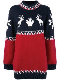 трикотажное платье-свитер Dsquared2