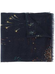 шарф с принтом фейерверков Valentino