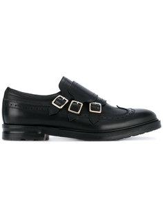 туфли монки с тремя пряжками Alexander McQueen
