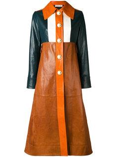 пальто дизайна колор-блок Marni