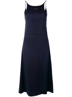 атласное платье на тонких лямках Cédric Charlier