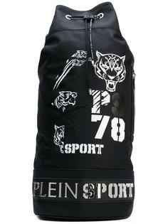 рюкзак с кожаной оторочкой и принтом Plein Sport