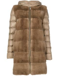 дутое пальто Lisa с отделкой мехом норки Cara Mila