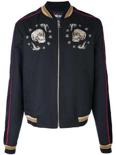 куртка-бомбер с черепами Just Cavalli