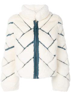 куртка-пуховик Lyra с норковым мехом Cara Mila