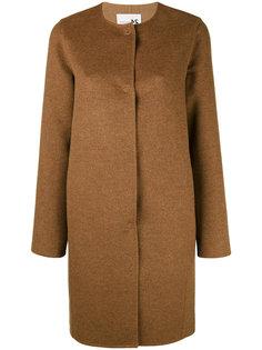 однобортное пальто без воротника Manzoni 24