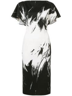 расклешенное платье миди Christian Siriano