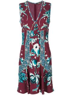 платье с цветочной вышивкой  Roberto Cavalli