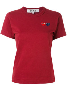 футболка с заплатками в виде сердец Comme Des Garçons Play