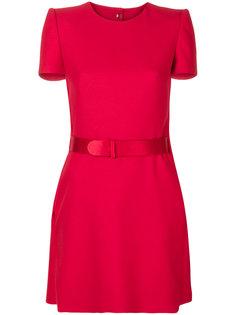 мини-платье с поясом Alexander McQueen