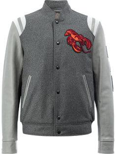 бейсбольная куртка-бомбер с вышитым омаром  Lanvin