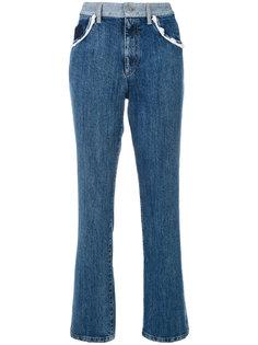 джинсы с кружевной отделкой  Miu Miu
