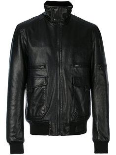 байкерская куртка с воротником-стойкой Lanvin
