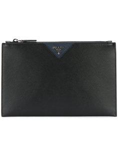 классический клатч с логотипом Prada