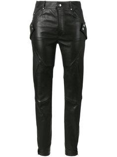 эластичные байкерские брюки Alexander McQueen