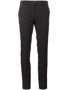 узкие брюки с жаккардовым узором в горох Etro