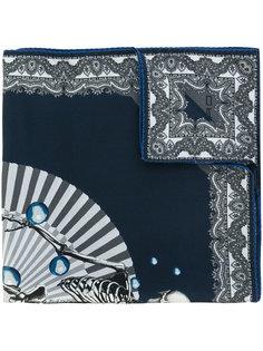 карманный платок с принтом скелета Etro