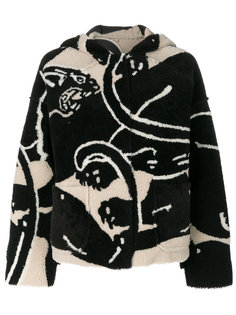 пальто с капюшоном Valentino