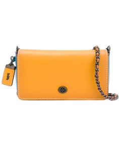 сумка на плечо дизайна колор-блок Coach