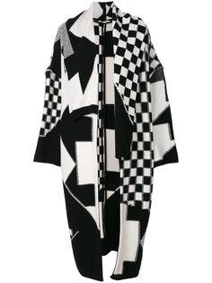 трикотажное пальто Check Volume Stella McCartney