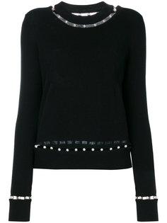 джемпер с отделкой искусственным жемчугом Givenchy