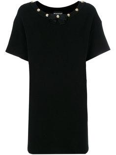 платье-футболка с заклепками у выреза Boutique Moschino