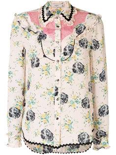 блузка с рисунком Coach