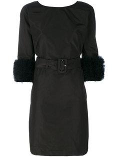 платье с тюлевой отделкой на манжетах  Prada