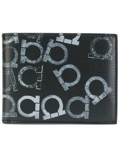 складной кошелек с узором из логотипов Salvatore Ferragamo