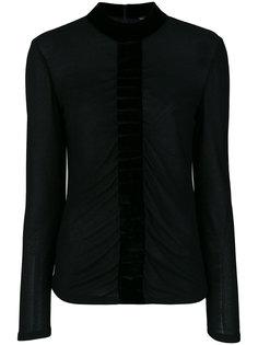 блузка с бархатной оторочкой Tom Ford