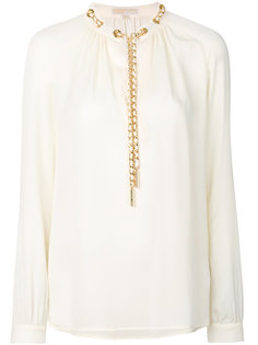 блузка с декором в виде цепочки Michael Michael Kors