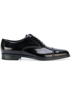 классические ботинки-оксфорды Prada