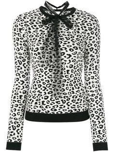 вязаный свитер с леопардовым рисунком Red Valentino
