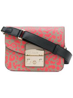 маленькая сумка с леопардовым рисунком Furla