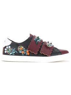 кроссовки с аппликацией в виде цветов Fendi