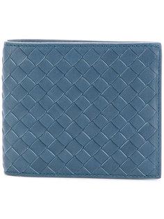 складной кошелек с плетеной отделкой Bottega Veneta