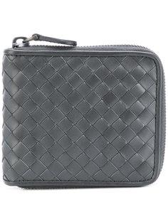 кошелек с плетеной отделкой и молнией Bottega Veneta