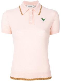 рубашка-поло с отделкой люрексом Coach