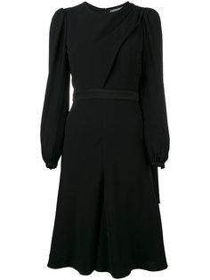 расклешенное платье с длинными рукавами Alexander McQueen