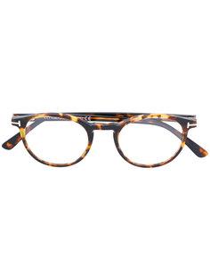 очки в оправе округлой формы Tom Ford Eyewear
