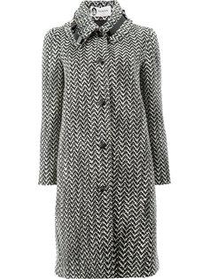твидовое пальто с ремешком на воротнике Lanvin