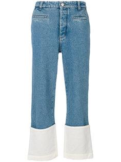 брюки с контрастной вставкой Loewe