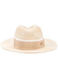 шляпа с тональной лентой Maison Michel