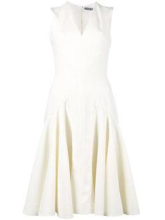 платье без рукавов с заниженной талией  Alexander McQueen